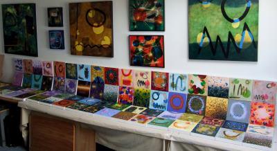 Studio with seventy works