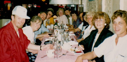 New York exhibition dinner 1990.