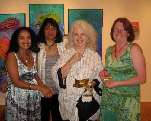 Farhana, Nadiya, C.Bangs and Tricia at the opening.