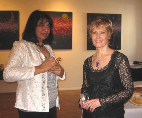 Nadia Jinnah with NY Artrepreneur Renee Phillips.